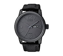 Citizen Men's Eco-Drive Black Ion-Plated Watch