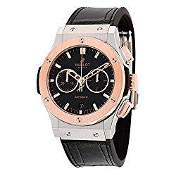 Hublot Classic Fusion Chronongraph Automatic Black Dial Black Leather Mens Watch 541.NO.1180.LR