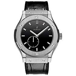 Hublot Classic Fusion Classico Men's Ultra-Thin Titanium Manual Watch – 515.NX.1270.LR