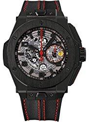 Hublot Ferrari All Black Automatic Openwork Dial Black Ceramic Mens Watch 401.CX.0123.VR