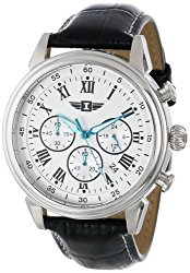 I By Invicta Men's 90242-002 Stainless Steel Watch with Black Leather Band