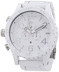 Nixon 51-30 Chronograph White Dial White PVD Mens Watch A0831255