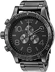 Nixon Men's '51-30 Chrono' Quartz Stainless Steel Automatic Watch, Color:Grey (Model: A083-632-00)