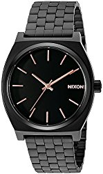 Nixon Men's A045957 Time Teller Black Stainless Steel Bracelet Watch