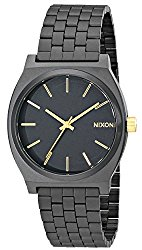 Nixon Time Teller Watch – Men's Matte Black/Gold Accent, One Size