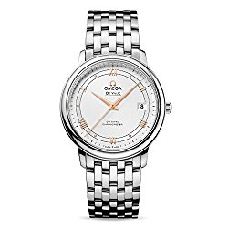 Omega De Ville Prestige Silver Dial Stainless Steel Automatic Mens Watch 424.10.37.20.02.002