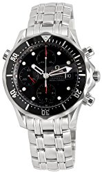 Omega Men's 213.30.42.40.01.001 Seamaster 300M Chrono Diver Black Dial Watch