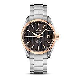 Omega Seamaster Aqua Terra Teak Grey Dial Steel and 18K Rose Gold Automatic Mens Watch 231.20.39.21.06.003