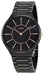 Rado Black Dial Ceramic Quartz Men's Watch R27741152