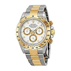 Rolex Cosmograph Daytona White Dial Stainless Steel and 18K Yellow Gold Rolex Oyster Bracelet Automatic Mens Watch 116503