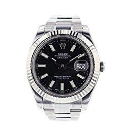 Rolex Datejust II 41mm Steel Black Dial Men's Watch 116334
