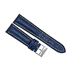 Breitling Blue Crocodile Leather 24 mm – 20 mm Strap with Stainless Steel Tang Clasp
