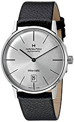 Hamilton Intra-Matic Silver Dial Leather Mens Watch H38455751