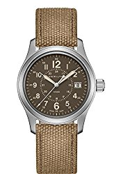 Hamilton Khaki Field Quartz H68201993 Brown / Brown Rugged Canvas Analog Quartz Unisex Watch