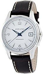 Hamilton Men's H32455557 JazzMaster Viewmatic Silver Dial Brown Strap Watch