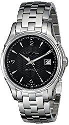Hamilton Men's H32515135 Jazzmaster Viewmatic Black Guilloche Dial Watch