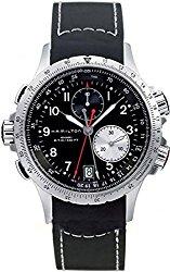 Hamilton Men's H77612333 Khaki ETO Stainless Steel Watch with Black Rubber Band