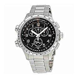 Hamilton X-Wind GMT H77912135 Black / Silver Stainless Steel Analog Quartz Men's Watch