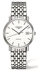Longines Elegant Collection Watch Automatic White Dial Stainless Steel Mens Watch L48104126