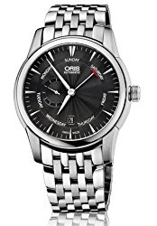 Oris Artelier Black Dial Stainless Steel Mens Watch 745-7666-4054MB