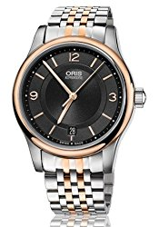 Oris Classic Date Black Dial Two-Tone Stainless Steel Mens Watch 01 733 7578 4334-07 8 18 63