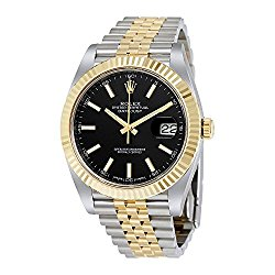 Rolex Datejust 41 Black Dial Steel and 18K Yellow Gold Jubilee Mens Watch 126333BKSJ