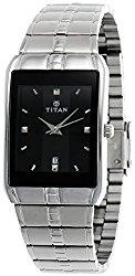 Titan Men's Karishma Analog Dial Watch Black