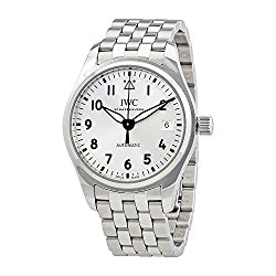 IWC Pilot Silver Dial Stainless Steel Automatic Mens Watch IW324006