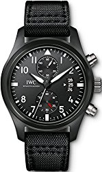 IWC Pilot Top Gun Black Dial Chronograph Mens Watch IW388007