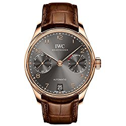 IWC Portugeiser Slate Grey Dial 18K Rose Gold Automatic Mens Watch IW500702