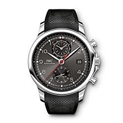 IWC Portugieser Yacht Club Automatic Anthracite Dial Black Rubber Mens Watch 3905-03
