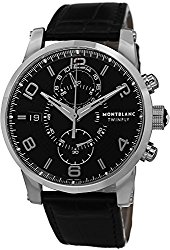 Montblanc Timewalker Chronograph Black Dial Mens Watch 105077