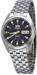 Orient #FAB00009D Men's 3 Star Stainless Steel Dark Blue Dial Self Wind Automatic Watch