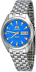 Orient #FAB00009L Men's 3 Star Stainless Steel Blue Dial Self Wind Automatic Watch