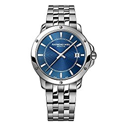 Raymond Weil Tango Blue Dial Stainless Steel Mens Watch 5591-ST-50001