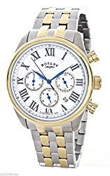 Rotary Men's Silver Dial Two-Tone Stainless Steel Chronograph Watch GB00406/01