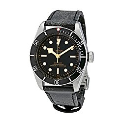 Tudor Heritage Black Bay Leather Automatic Mens Watch 79230N-BKLS