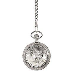 Brilliant Uncirculated 1800's Carson City (CC) Mint Morgan Silver Dollar Pocket Watch