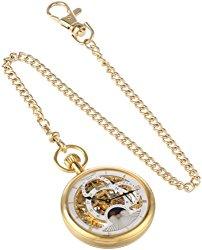 Charles-Hubert, Paris Gold-Plated Dual Time Mechanical Pocket Watch
