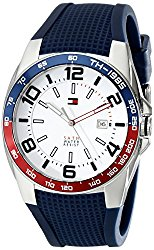 Tommy Hilfiger Men's 1790885 Stainless Steel Watch With Blue Silicone Band