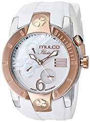 MULCO Unisex MW5-1877-013 ILUSION CRESCENT Analog Display Swiss Quartz White Watch
