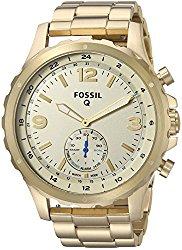 Fossil Q Nate Gen 2 Men's Gold-Tone Stainless Steel Hybrid Smartwatch FTW1142