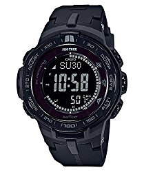Casio Men's 'PRO TREK' Quartz Resin Casual Watch, Color:Black (Model: PRW-3100Y-1BCR)