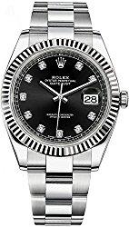 Datejust 41 126334 Black Dial 41 mm Diamond Mens Watch