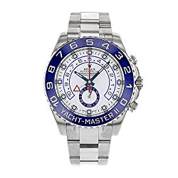 Rolex Yacht Master II White Dial Blue Bezel Stainless Steel Automatic Mens Watch 116680WAO