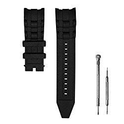 CACA for Invicta Pro Diver Watch Replacement Rubber Silicone Band / Strap – Black Invicta Watch Bands