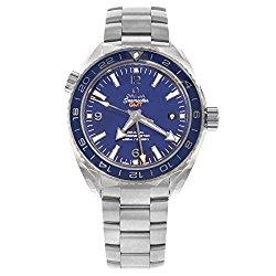 Omega Planet Ocean GMT Automatic Blue Dial Titanium Mens Watch 23290442203001