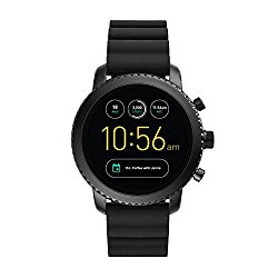 Fossil Gen 3 Smartwatch – Q Explorist Black Silicone FTW4005