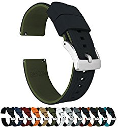 BARTON Elite Silicone Watch Bands – Quick Release – Choose Color – 18mm, 20mm & 22mm Watch Straps