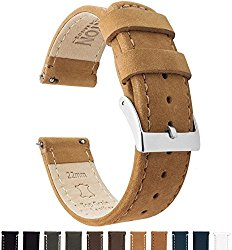 BARTON Quick Release – Top Grain Leather Watch Band Strap – Choice of Color & Width (18mm, 20mm or 22mm)